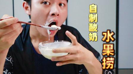 教你在家用纯牛奶自制酸奶水果捞  酸奶机没想到这么便宜!