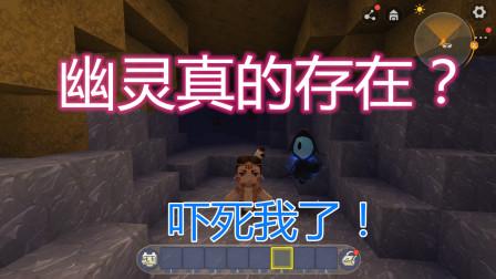 迷你世界:第一次玩迷你世界,居然就遇到了幽灵,被吓到了!