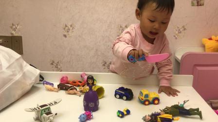 索菲亚公主切水果玩具 奥特曼怪物玩具