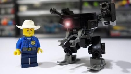 乐高MOC拼装小机器人SWM积木玩具