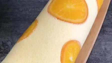 香橙蛋糕卷怎么做?