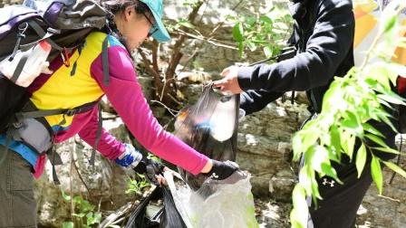 省登协三人行103队员净山环保行动の藏龙涧