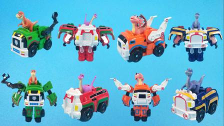 灵犀情商玩具故事 时空龙骑士变形装载车来啦,打败怪兽帮助奥特曼