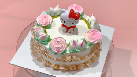 创意儿童可爱猫型蛋糕,女孩也许会喜欢