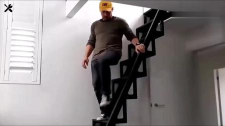 牛人发明:意大利这楼梯太牛了,等我盖房子的时候一定买一套,真方便