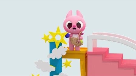 露西篮子里面有很多海洋球,她走上楼去要做什么呢?迷你特工队游戏