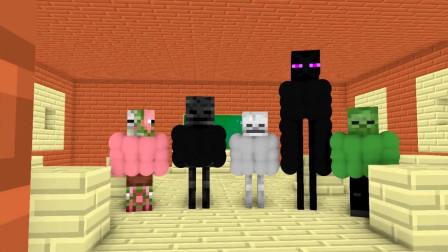 我的世界动画-健身版怪物学院-Herobrine变了-HAIDY MONS