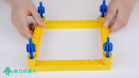 积木搭建4边形,稳定性与3角形相差甚远,生活常识还记得吗?