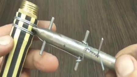 牛人发明的钢丝捆绑神器, 轻松让水管完全密封, 太实用了