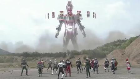 假面骑士:帝骑被终骑变成帝骑变身器,巨大变身化身为奥特曼骑士