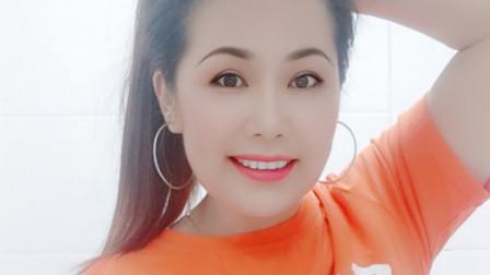 好心情蓝蓝广场舞原创【191】火爆全网歌曲【微笑吧正背面】附教学