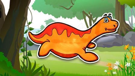 恐龙简笔画 画一只萌萌的长喙龙