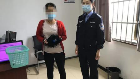 """戴""""作弊假发""""考科目四被民警察觉异样 女子当场弃考想跑"""