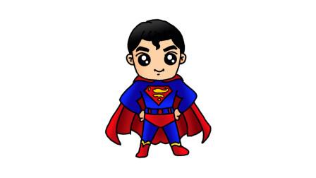 简单易学的超人简笔画 - 一步一步教你画