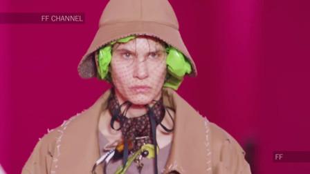 2020纽约时装周Maison Margiela品牌时装秀,模特这身打扮很拉风!