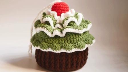 遇见手作馆   小号圣诞树蛋糕包包钩针编织视频教程