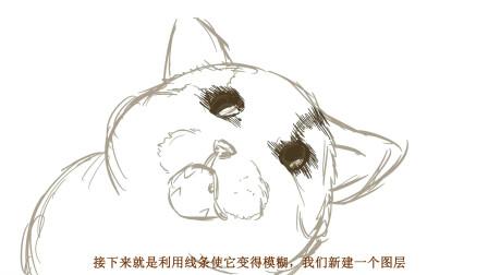 用线条画出一条猫,跟着小画家一起学习吧