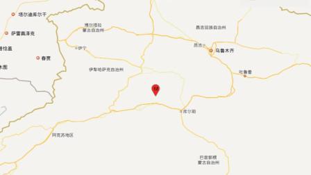 巴音郭楞州和静县发生3.1级地震,震源深度10千米