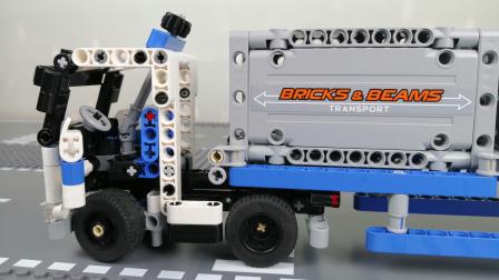 乐高玩具故事 集装箱超级卡车组装 乐高科技机械组42062积木玩具