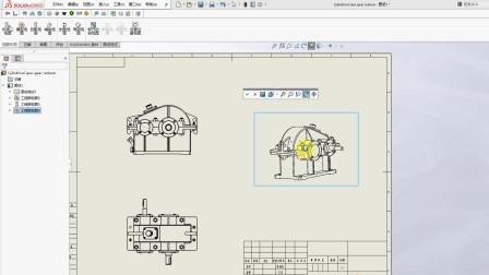 SolidWorks复杂零部件出图技巧-工程图中轴测图实现旋转摆放位置