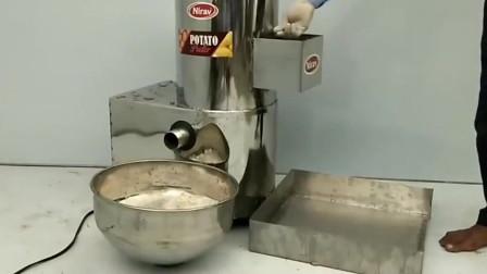 牛人发明:不用手工去土豆皮,一次能洗一盆土豆的机器
