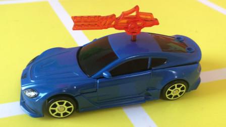 玩具车试玩 钢铁纪元 合金变形小汽车