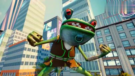 钢铁飞龙:乐乐真大意,没有机甲的保护就和青蛙叫嚣,真是天真