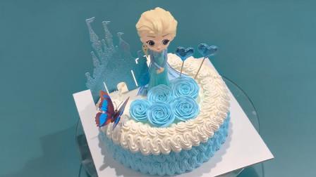 创意卡通冰雪公主型蛋糕,有小朋友会喜欢吗?
