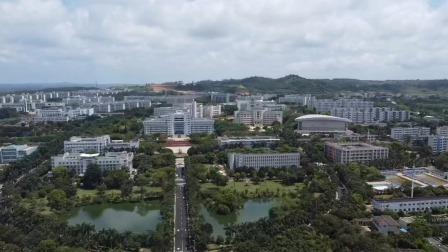 """航拍广东湛江""""广东海洋大学""""湖光校区本部,占地4803亩,大大大"""