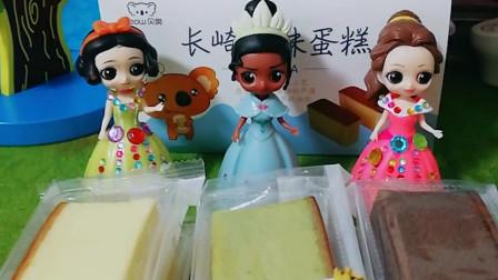 母后给公主们送早餐蛋糕,贝尔把青蛙公主和白雪的早餐也吃了,贝尔好能吃呀!
