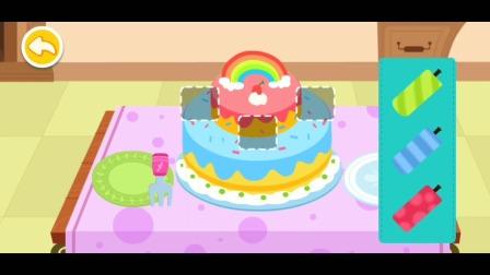 宝宝家庭日  宝宝为妈妈做生日蛋糕和礼物! 宝宝巴士游戏