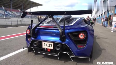 1200马力丹麦超跑 Zenvo TSR-S的主动后翼在赛道上大放异彩