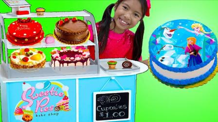 国外儿童时尚,小萝莉和朋友学习如何烤蛋糕,小朋友来跟着这首有趣的童谣一起唱