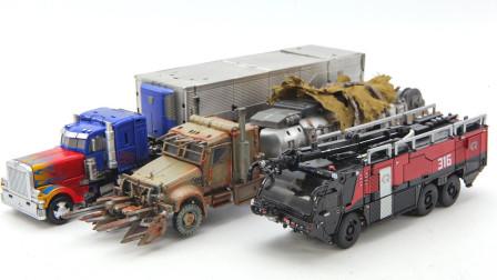 开箱变形金刚电影DOTM SS系列擎天柱 威震天 御天敌机器人变形玩具