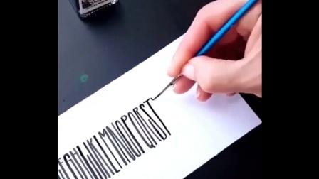【花体字】【字体设计】适合手账的治愈英文书法书写合集