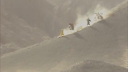 师徒四人过火焰山,八戒看环境太,忙问是不是到了天尽头