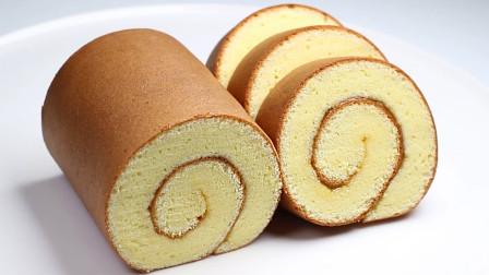 鸡蛋糕卷家常做法,干净卫生,无添加剂,健康又美味,制作简单