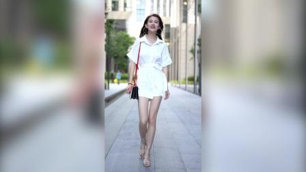 街拍美女 肤白貌美大长腿 精彩合辑 175