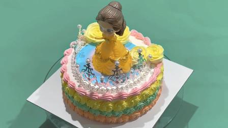 创意公主皇冠配饰蛋糕制作,小朋友们会喜欢吗?
