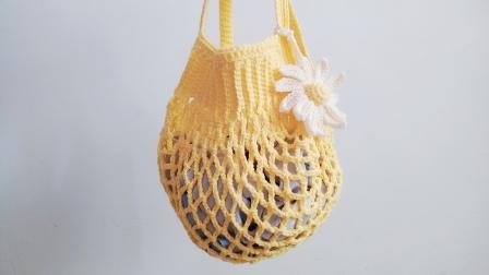 暖阳绒绒第59集手工编织网兜包的编织教程图解视频