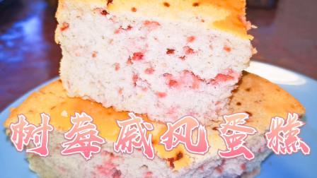 【美食峰慧】树莓戚风蛋糕 不会气疯的基础版蛋糕坯 一定要学会