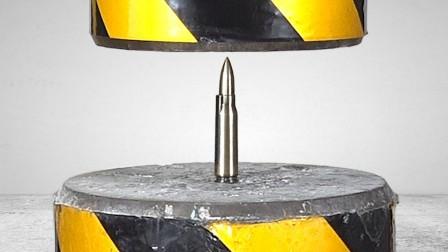 实验:巴雷特子弹的威力有多强?牛人拿来液压机一战,结果惊呆了