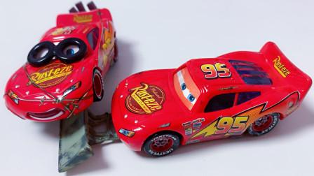 逃脱失败被迫修路的闪电麦昆汽车总动员赛车总动员