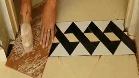 牛人发明:越南老师傅用普通瓷砖做出立体效果,这技术国内都很少见!