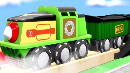 卡通积木模型汽车玩具