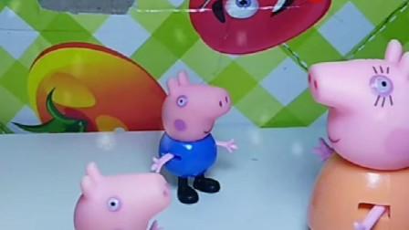 猪妈妈要带孩子们买棉衣佩奇说我的棉衣还能穿让乔治穿吧