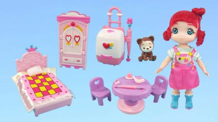 猫星趣玩 凯蒂猫玩具开箱彩虹宝宝的卧室,露露和她的玩具朋友们