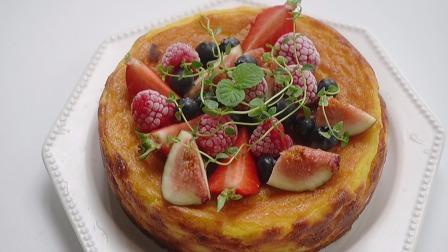 夏日野餐甜品,南瓜奶油芝士蛋糕,不用打发就可以做出芝士浓郁的蛋糕