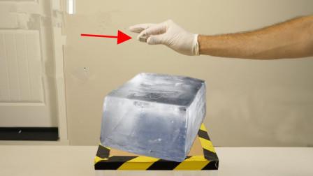 """把""""金属钠""""放在冰块上,会发生什么反应?结果太震撼了!"""