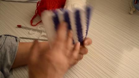 如何钩织一款双色花样图解视频